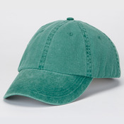 Solid Low-Profile Pigment-Dyed Twill Cap